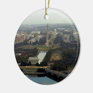 Washington DC Aerial Photograph Ceramic Ornament