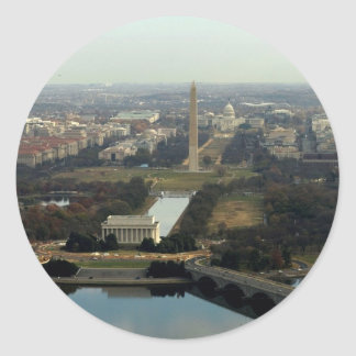 Washington DC Aerial Photograph Classic Round Sticker