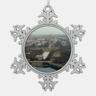 Washington DC Aerial Photograph Ornaments