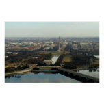 Washington DC Aerial Photograph Poster
