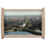 Washington DC Aerial Photograph Serving Platters