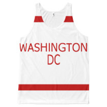 Washington DC All-Over Printed Unisex Tank
