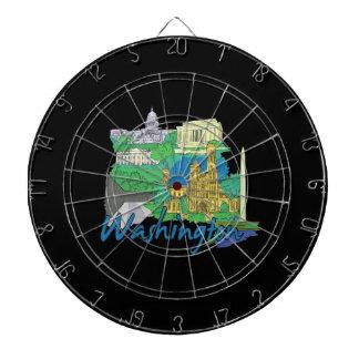 washington dc america city travel graphic vacation dart board