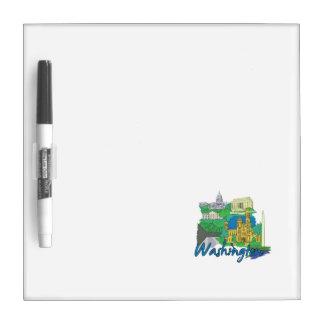 washington dc america city travel graphic vacation dry erase boards