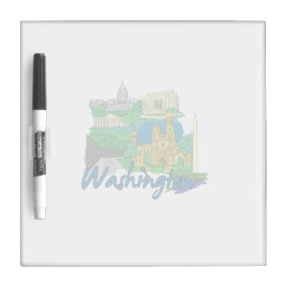 washington dc america city travel graphic vacation Dry-Erase whiteboard