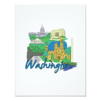 washington dc america city travel graphic vacation announcement