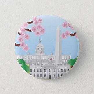 Washington DC and Cherry Blossoms Button