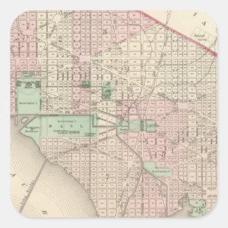 Washington DC and Georgetown Square Sticker