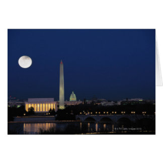 Washington DC at Night Card