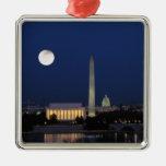 Washington DC at Night Metal Ornament