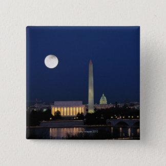 Washington DC at Night Pinback Button