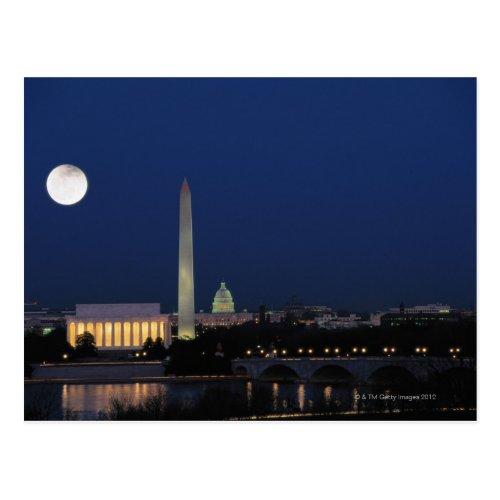 Washington DC at Night Postcard