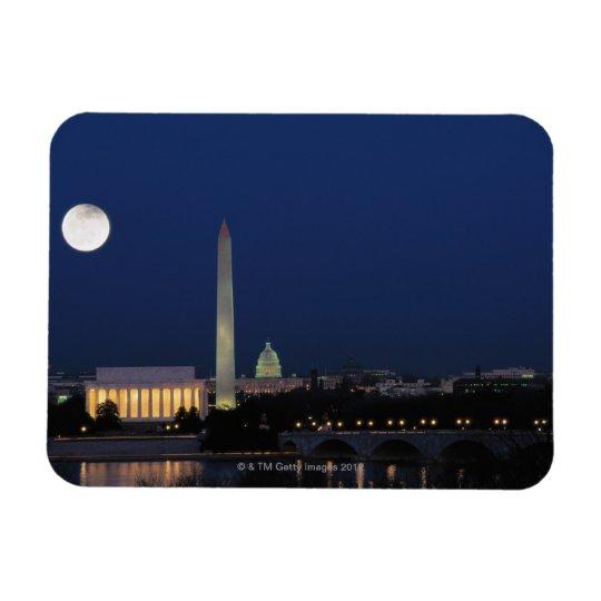 Washington DC at Night Rectangular Photo Magnet