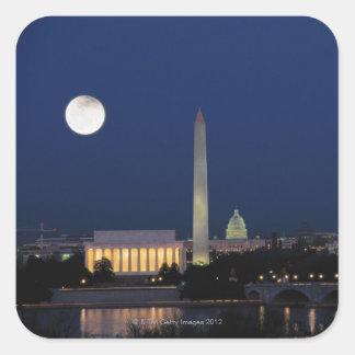 Washington DC at Night Square Sticker