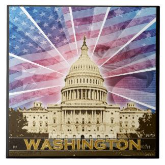 Washington DC Azulejo Cuadrado Grande