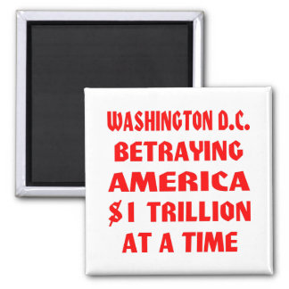 Washington DC Betraying America $1 Trillion At A Refrigerator Magnets