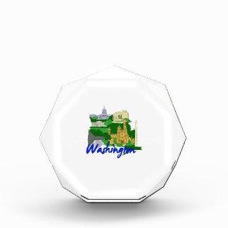 washington dc blue green america city travel vacat acrylic award