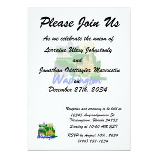 washington dc blue green america city travel vacat card