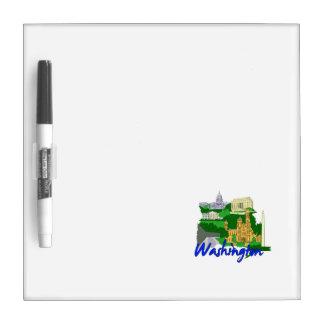 washington dc blue green america city travel vacat dry erase boards