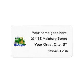 washington dc blue green america city travel vacat personalized address label