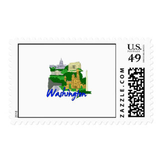washington dc blue green america city travel vacat stamps