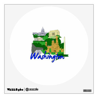 washington dc blue green america city travel vacat wall sticker
