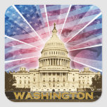 Washington DC Calcomanía Cuadradas Personalizadas