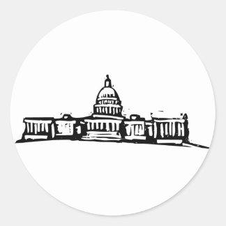 Washington DC Capital Classic Round Sticker