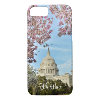 Washington DC Capitol Building and Cherry Blossoms iPhone 8/7 Case