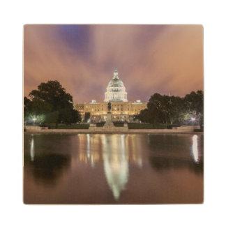 Washington DC, Capitol Building Wooden Coaster