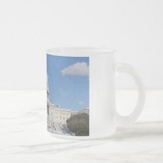 Washington DC Capitol Frosted Glass Coffee Mug