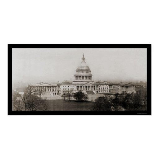 Washington DC Capitol Photo 1906 Posters