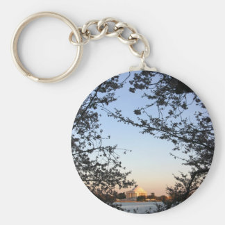 Washington DC Cherry Blossom Keychain