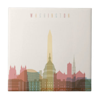 Washington, DC | City Skyline Ceramic Tile
