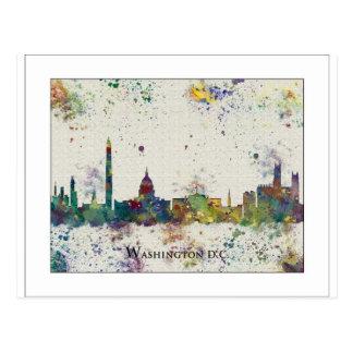 WASHINGTON DC  city skyline, Washington DC print, Post Card