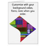 Washington DC Customize colorful card how you like