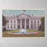 Washington DC de la Casa Blanca Poster