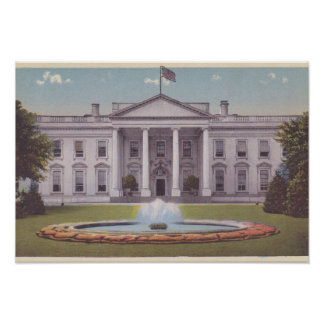 Washington DC de la Casa Blanca Póster