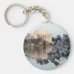 Washington DC de la flor de cerezo Llaveros Personalizados
