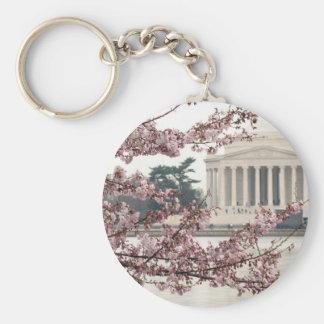 Washington DC de la flor de cerezo Llavero Redondo Tipo Pin