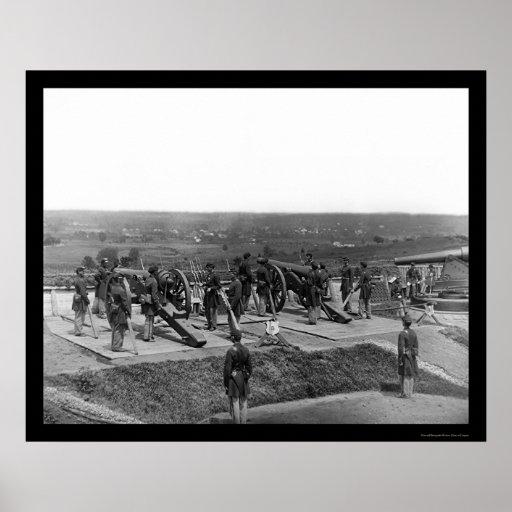 Washington, DC Defending Gun Crews 1865 Poster