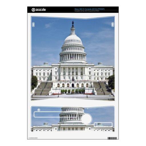 Washington DC del edificio del capitolio de los E. Calcomanías Para Xbox 360 S