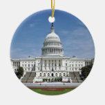 Washington DC del edificio del capitolio de los E. Adorno De Navidad