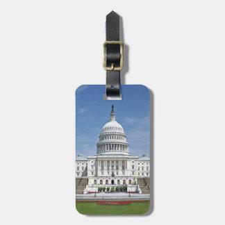 Washington DC del edificio del capitolio de los E Etiquetas De Maletas