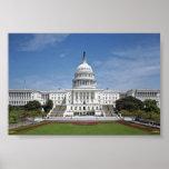 Washington DC del edificio del capitolio de los E. Poster