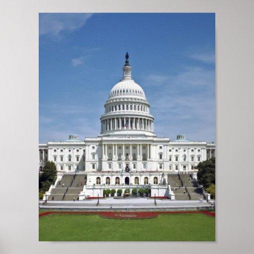 Washington DC del edificio del capitolio de los E. Póster
