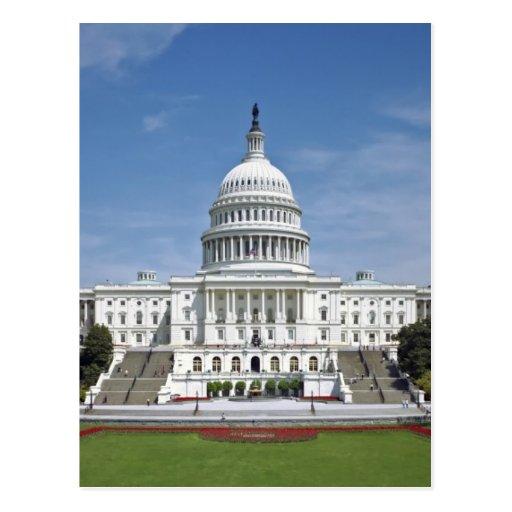 Washington DC del edificio del capitolio de los Tarjeta Postal