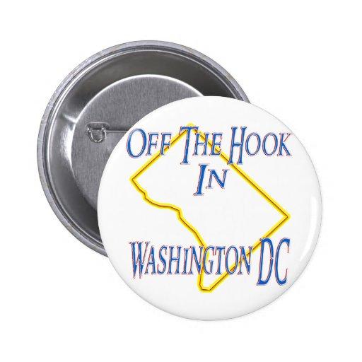 Washington DC - del gancho Pin Redondo De 2 Pulgadas