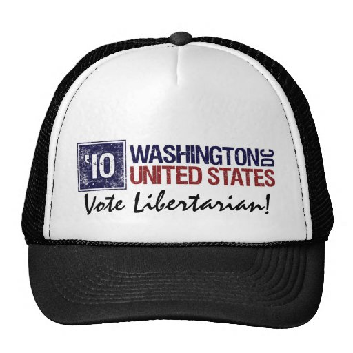 Washington DC del vintage del libertario del voto  Gorras