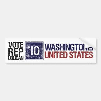 Washington DC del vintage del republicano del voto Pegatina Para Auto
